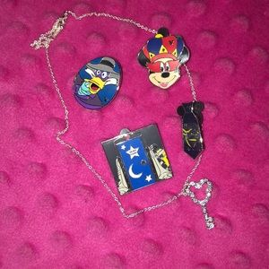 Disney Pins & Necklace
